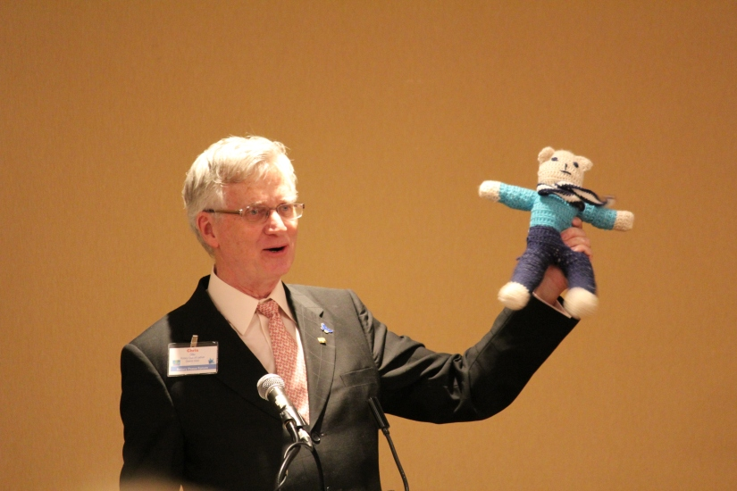 Chris Offer and his International Bear